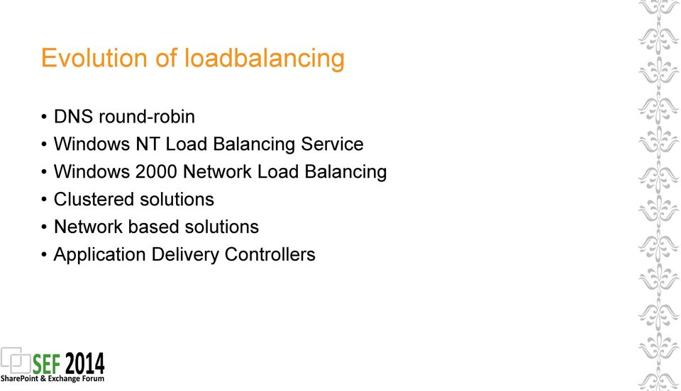 Network Load Balancing Clustered solutions