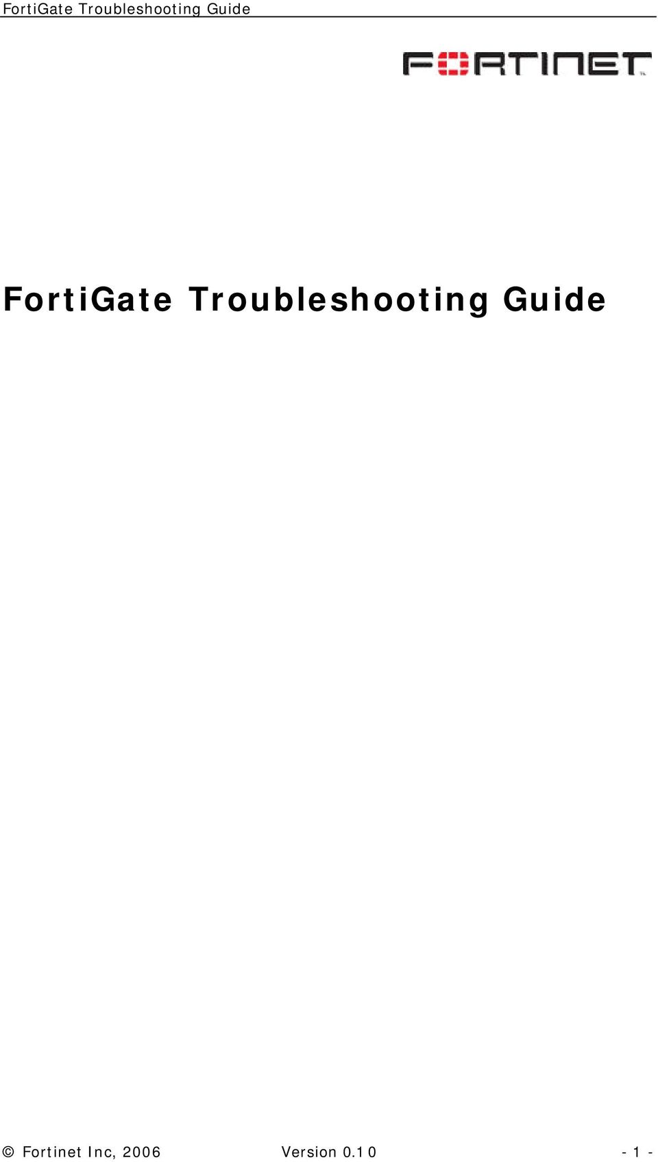 Guide Fortinet