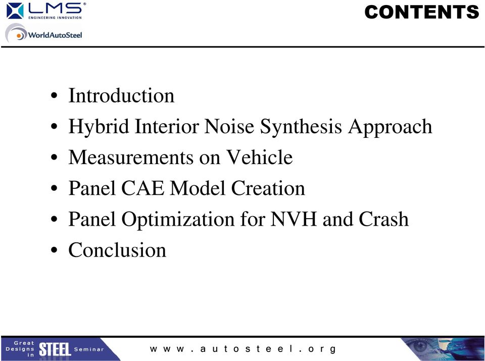 on Vehicle Panel CAE Model Creation