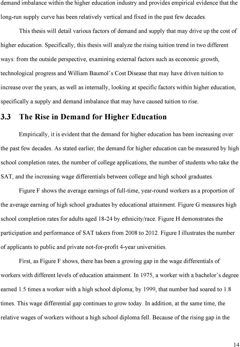 Rising cost of education essay