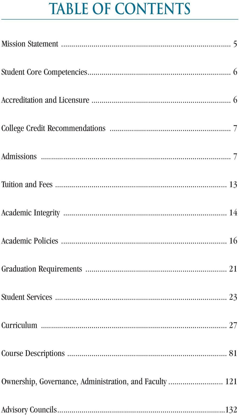 .. 14 Academic Policies... 16 Graduation Requirements... 21 Student Services... 23 Curriculum.