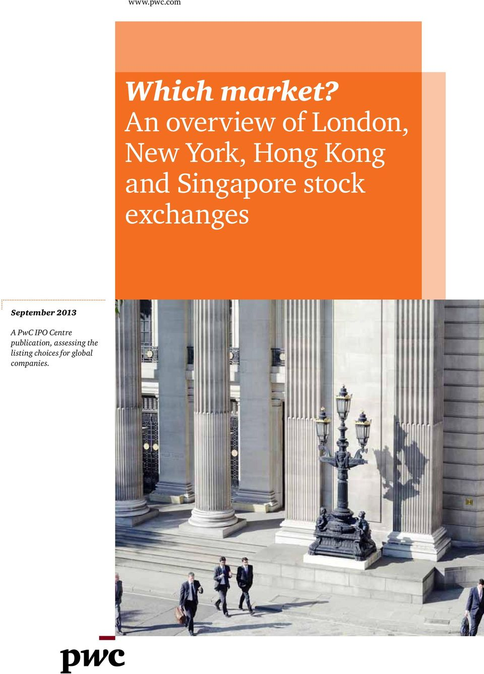Singapore stock exchanges September 2013 A PwC