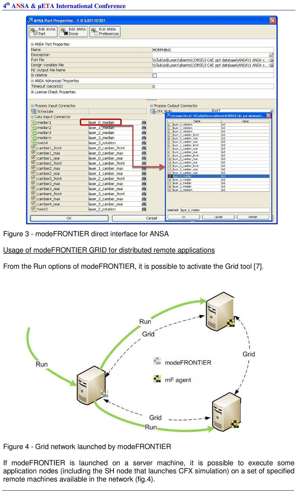Figure 4 - Grid network launched by modefrontier If modefrontier is launched on a server machine, it is possible to