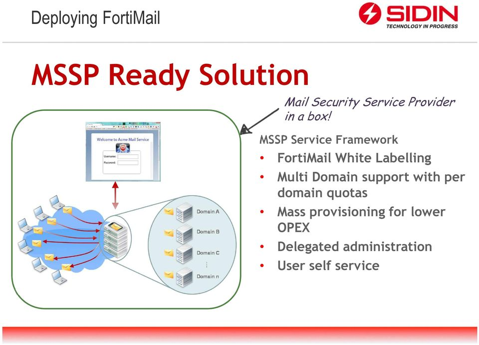MSSP Service Framework FortiMail White Labelling Multi Domain