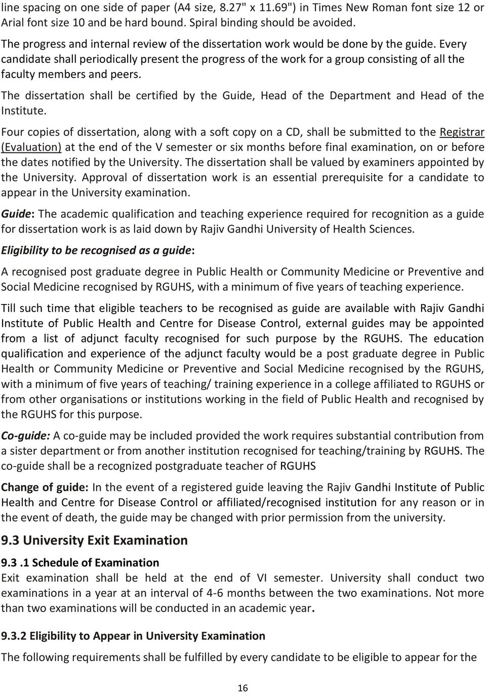 rajiv gandhi university of health science dissertation