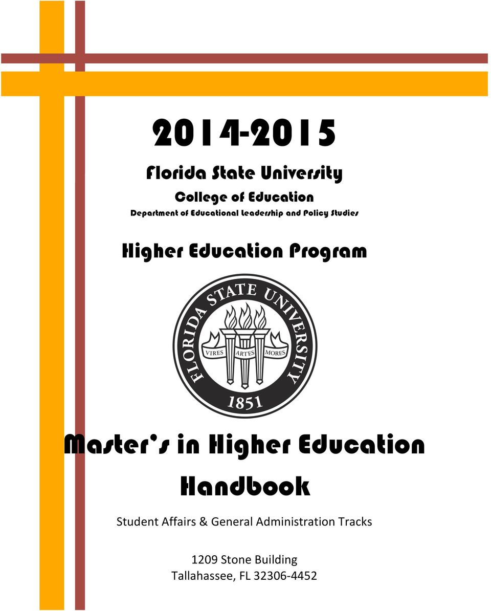 Program Master s in Higher Education Handbook Student Affairs &