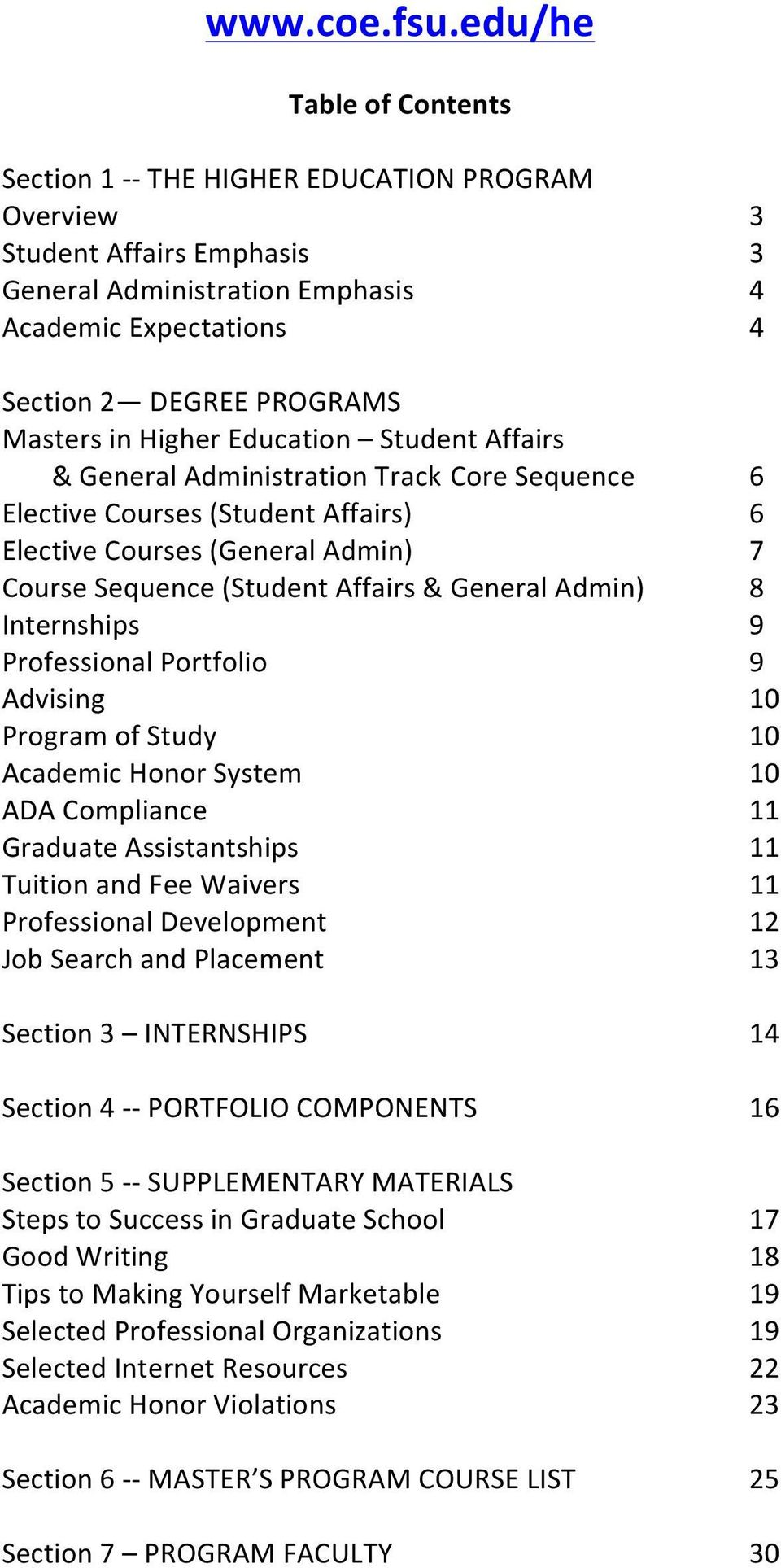 Education Student Affairs & General Administration Track Core Sequence Elective Courses (Student Affairs) Elective Courses (General Admin) Course Sequence (Student Affairs & General Admin)