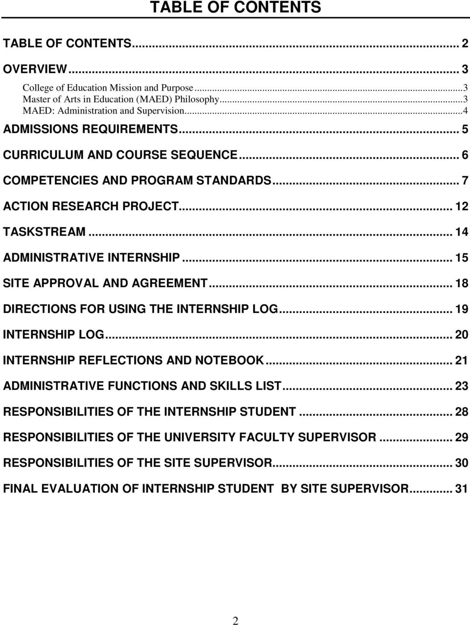.. 15 SITE APPROVAL AND AGREEMENT... 18 DIRECTIONS FOR USING THE INTERNSHIP LOG... 19 INTERNSHIP LOG... 20 INTERNSHIP REFLECTIONS AND NOTEBOOK... 21 ADMINISTRATIVE FUNCTIONS AND SKILLS LIST.