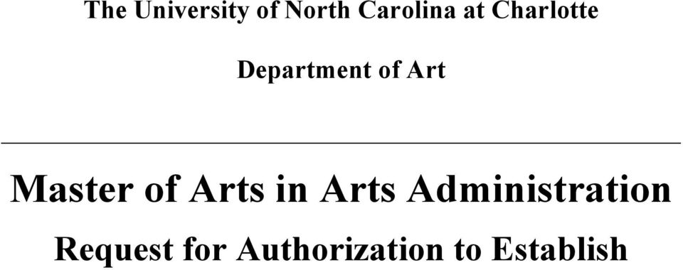 Master of Arts in Arts