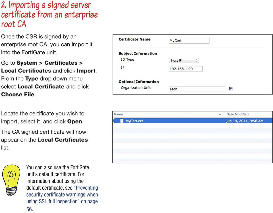 Using a custom certificate for SSL inspection - PDF