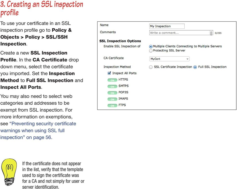 Using a custom certificate for ssl inspection pdf set the inspection method to full ssl inspection and inspect all ports you may also yelopaper Gallery