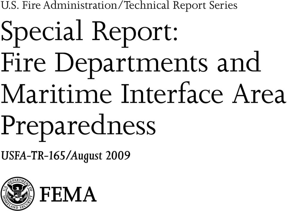 Departments and Maritime Interface