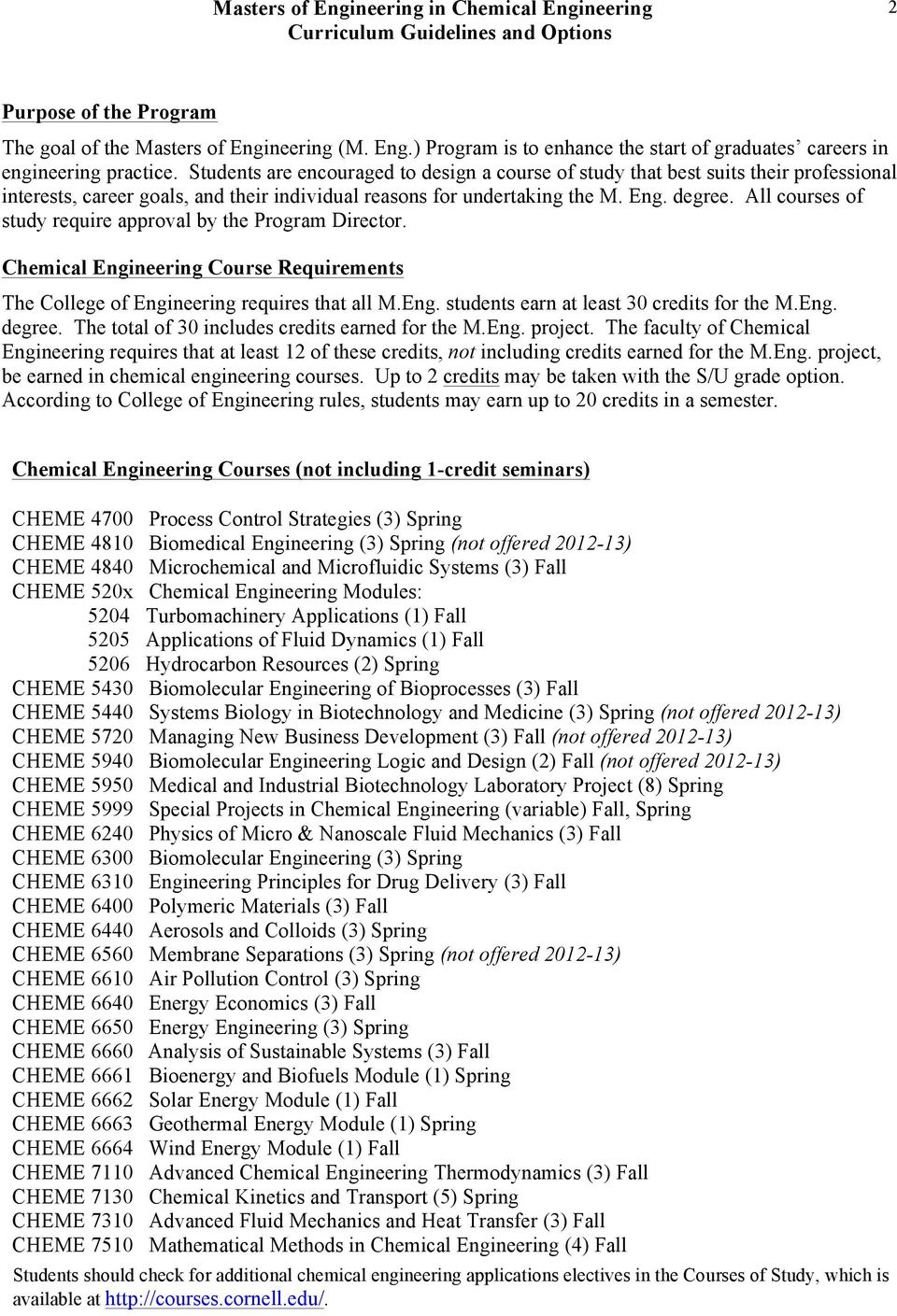 Courses required to become a chemical engineer?