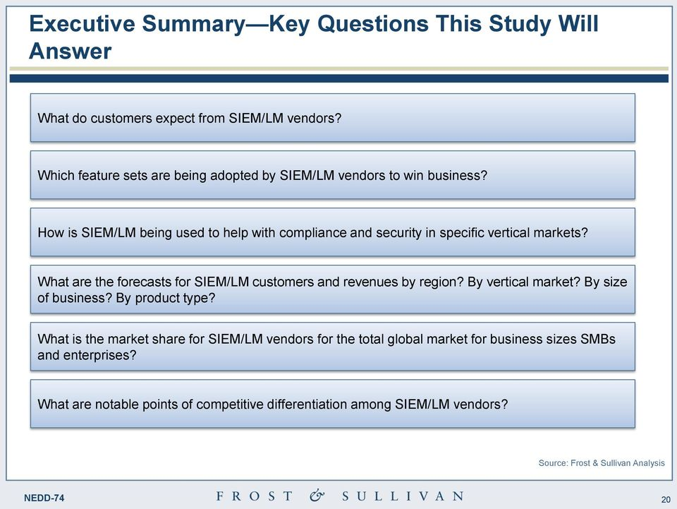 How is SIEM/LM being used to help with compliance and security in specific vertical markets?