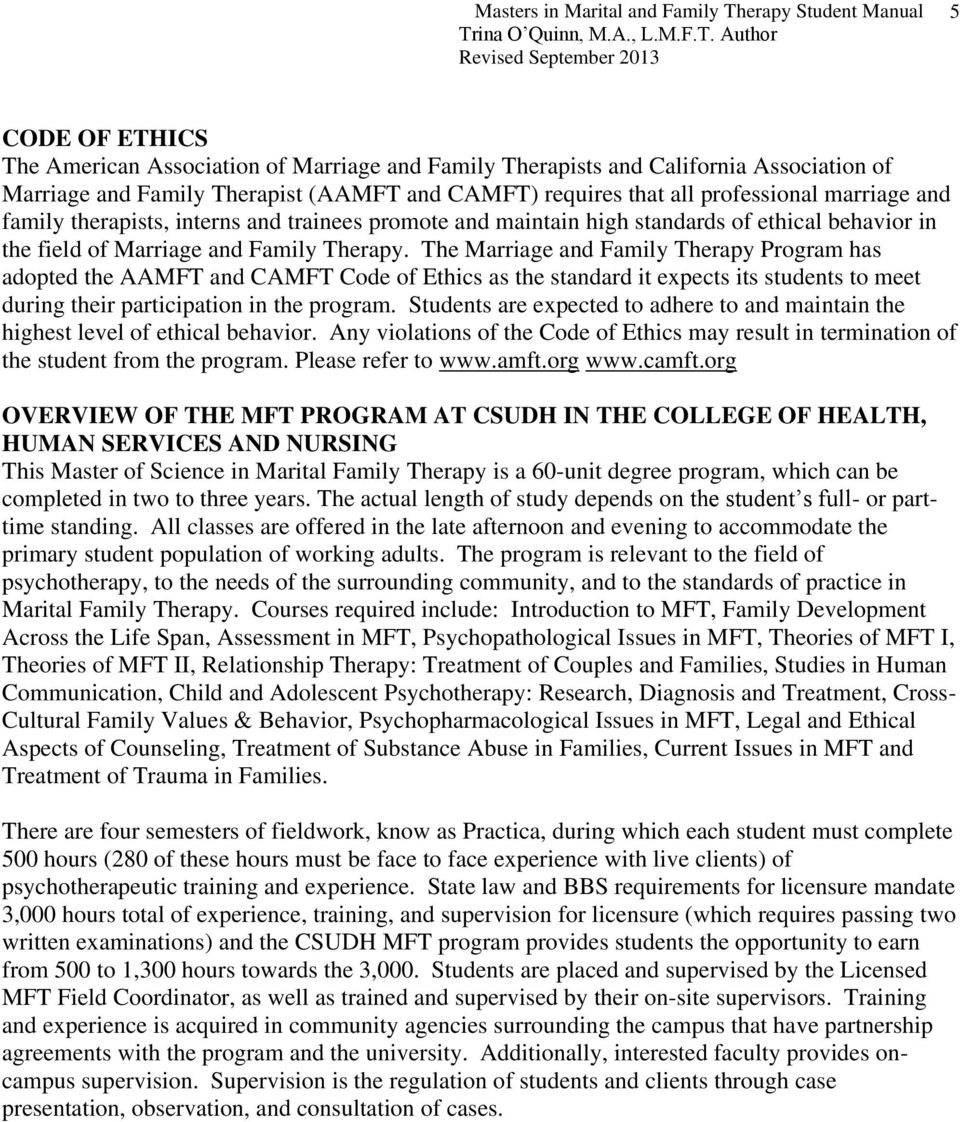 Marriage and Family Therapy&nbspEssay