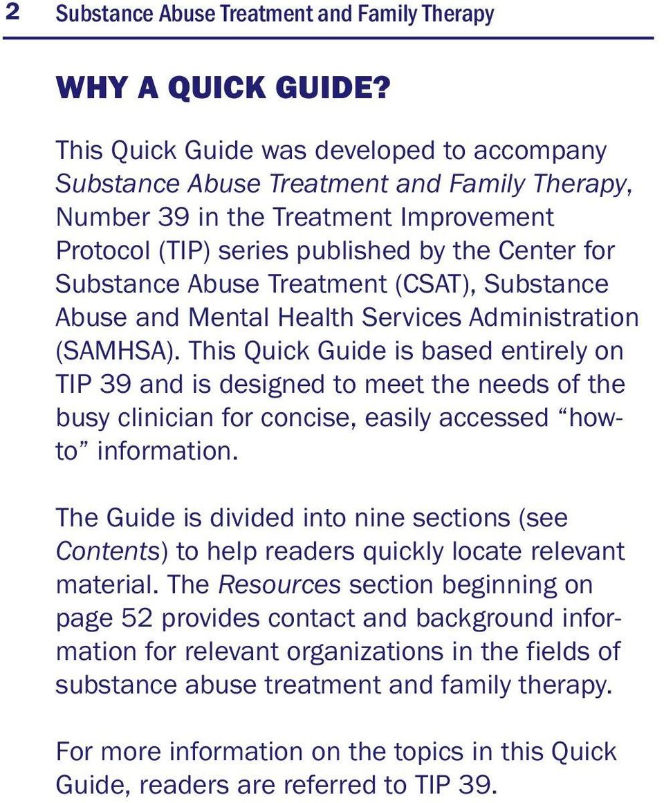Treatment (CSAT), Substance Abuse and Mental Health Services Administration (SAMHSA).