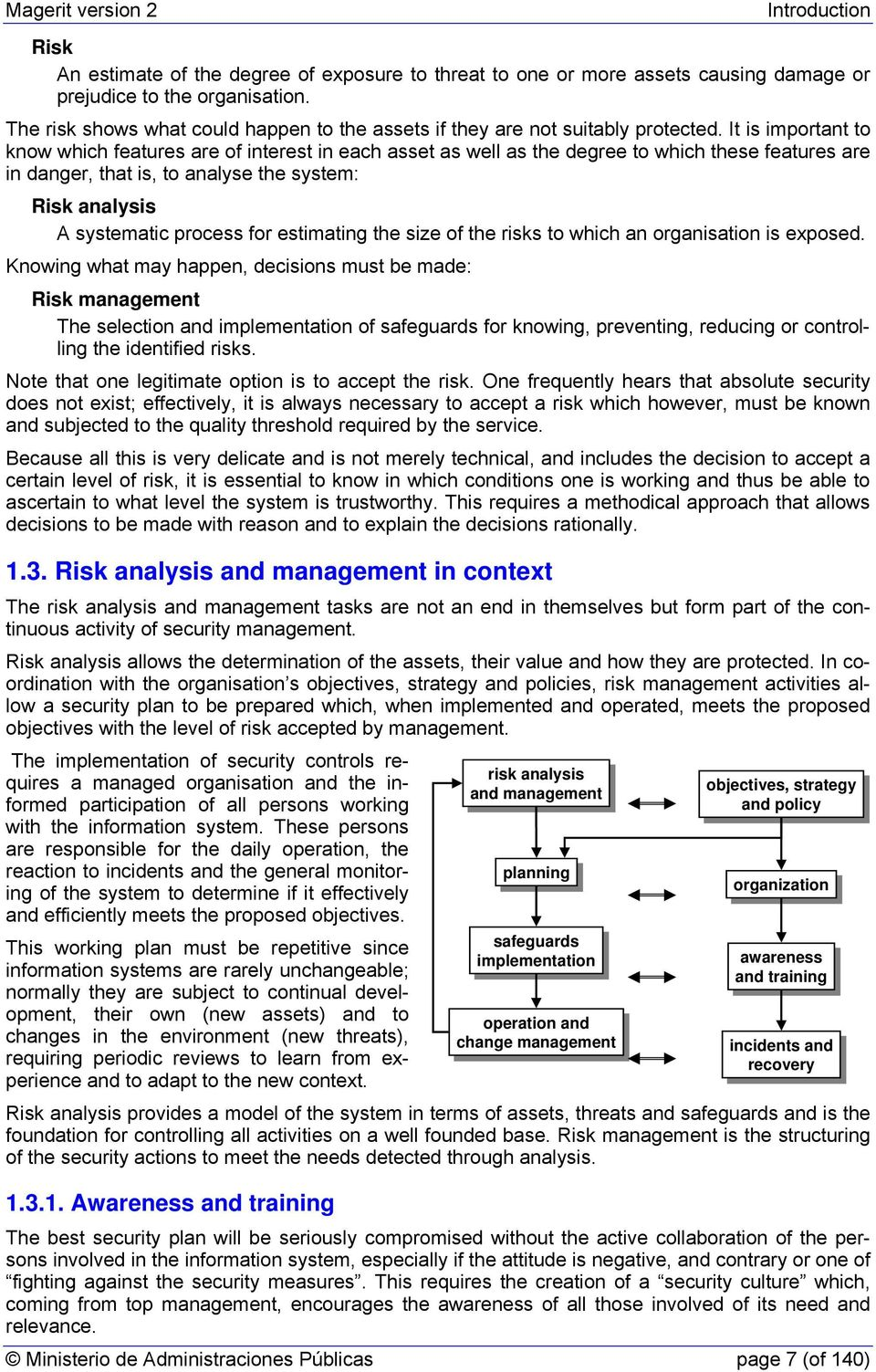 It is important to know which features are of interest in each asset as well as the degree to which these features are in danger, that is, to analyse the system: Risk analysis A systematic process