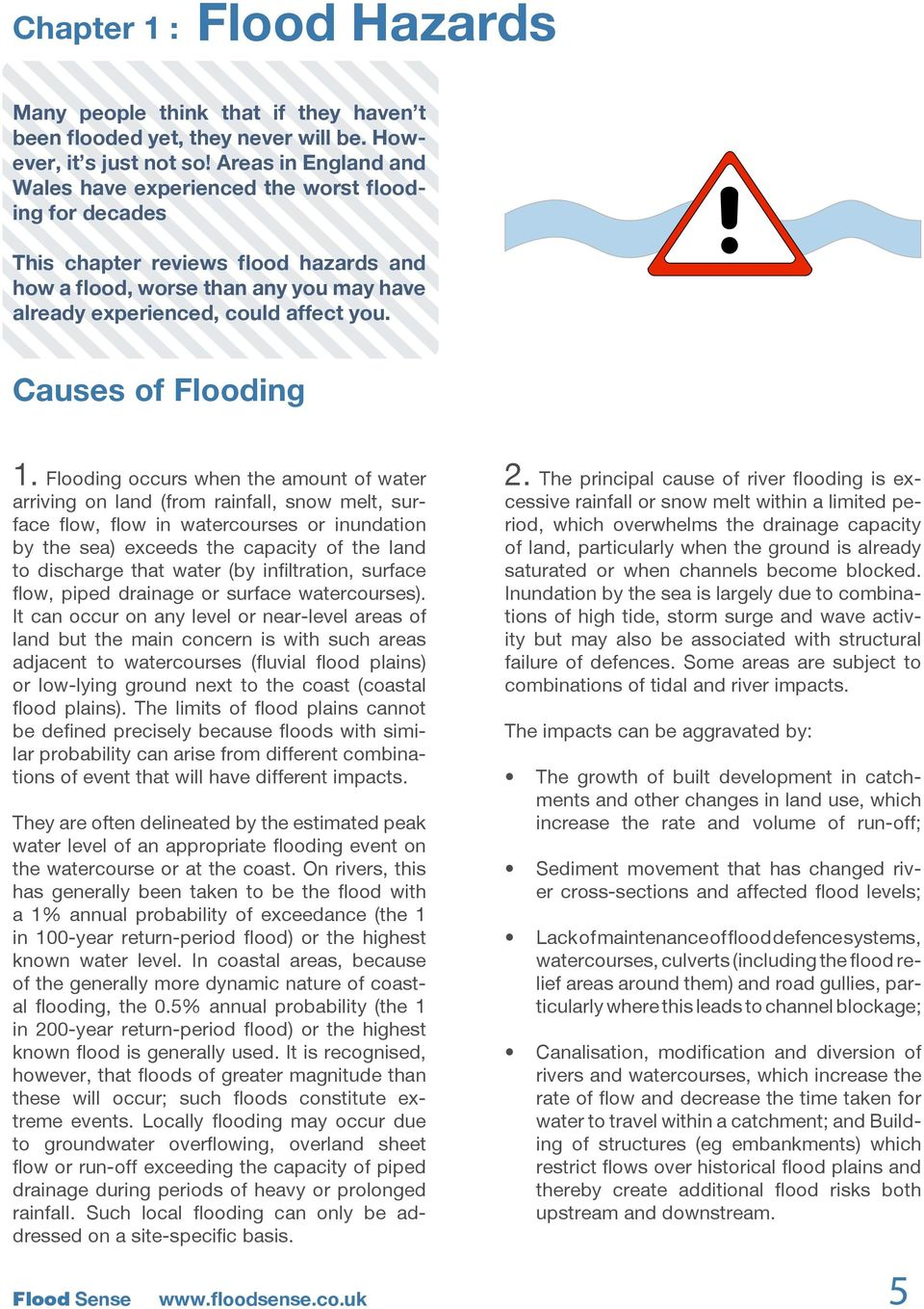 Causes of Flooding 1.