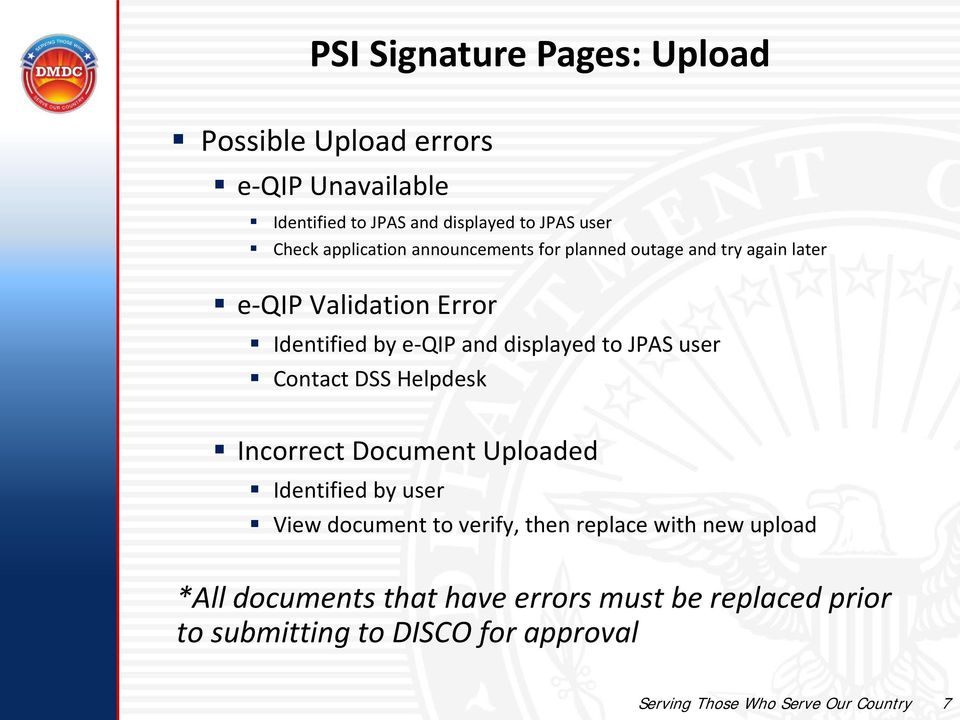 Awesome JPAS User Contact DSS Helpdesk Incorrect Document Uploaded Identified By  User View Document To Verify,