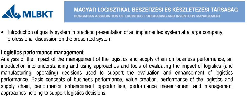 logistics performance definition and measurement Performance measurement in humanitarian logistics humanitarian logistics – significance, definition global benchmark to measure logistics performance.