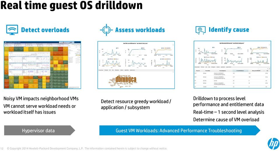 application / subsystem Drilldown to process level performance and entitlement data Real-time 1 second