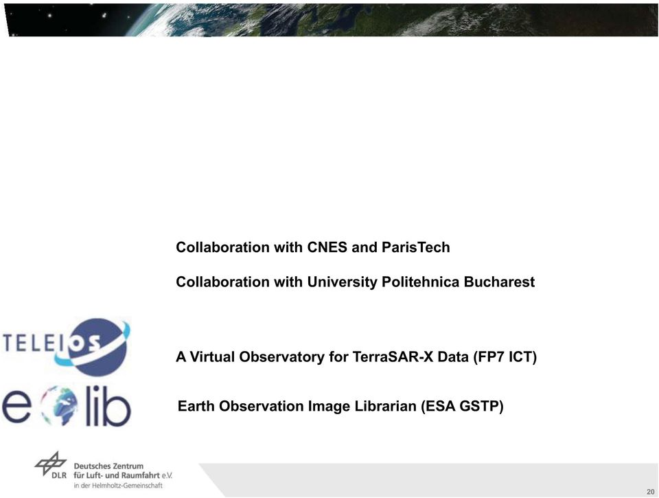 Bucharest A Virtual Observatory for TerraSAR-X