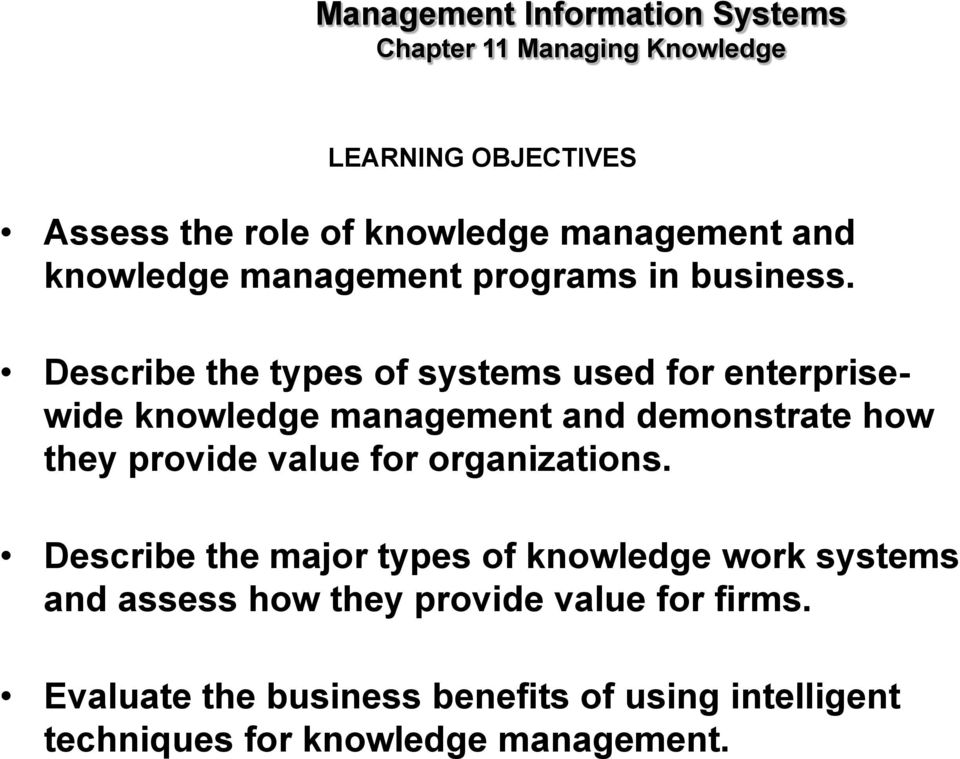 value for organizations.