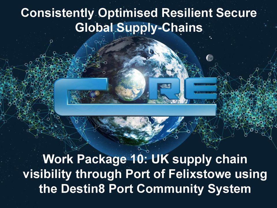 supply chain visibility through Port of