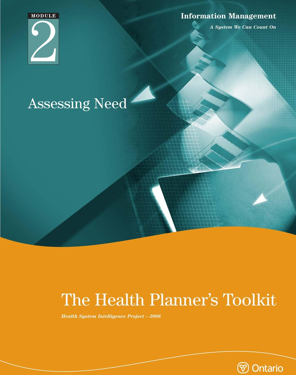 Need The Health Planner s Toolkit