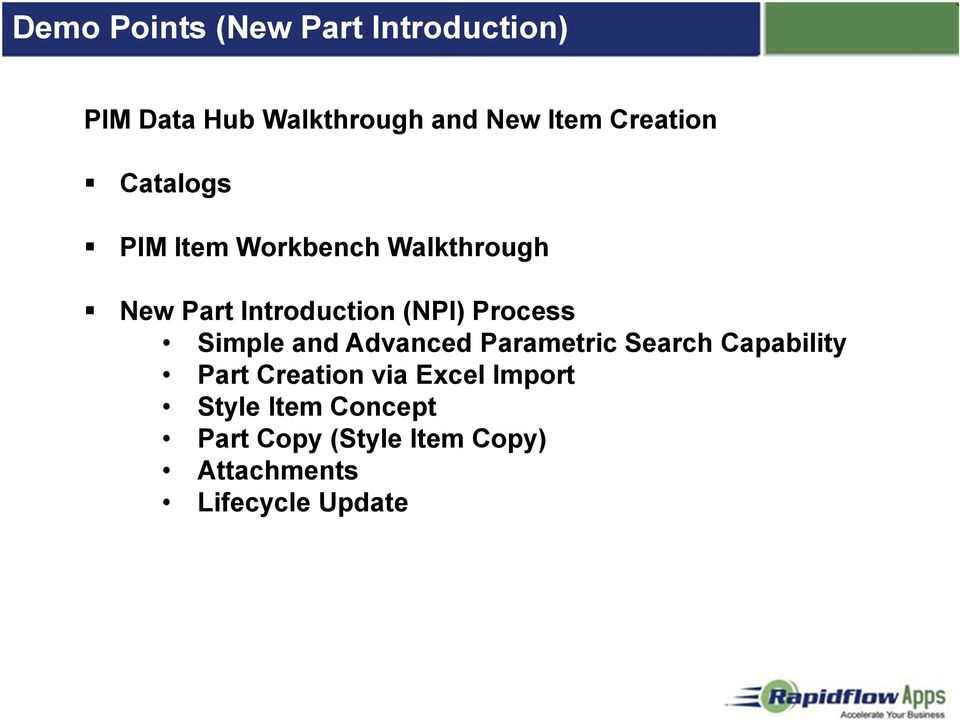 Process Simple and Advanced Parametric Search Capability Part Creation via