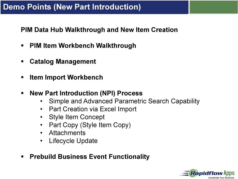 Process Simple and Advanced Parametric Search Capability Part Creation via Excel Import Style