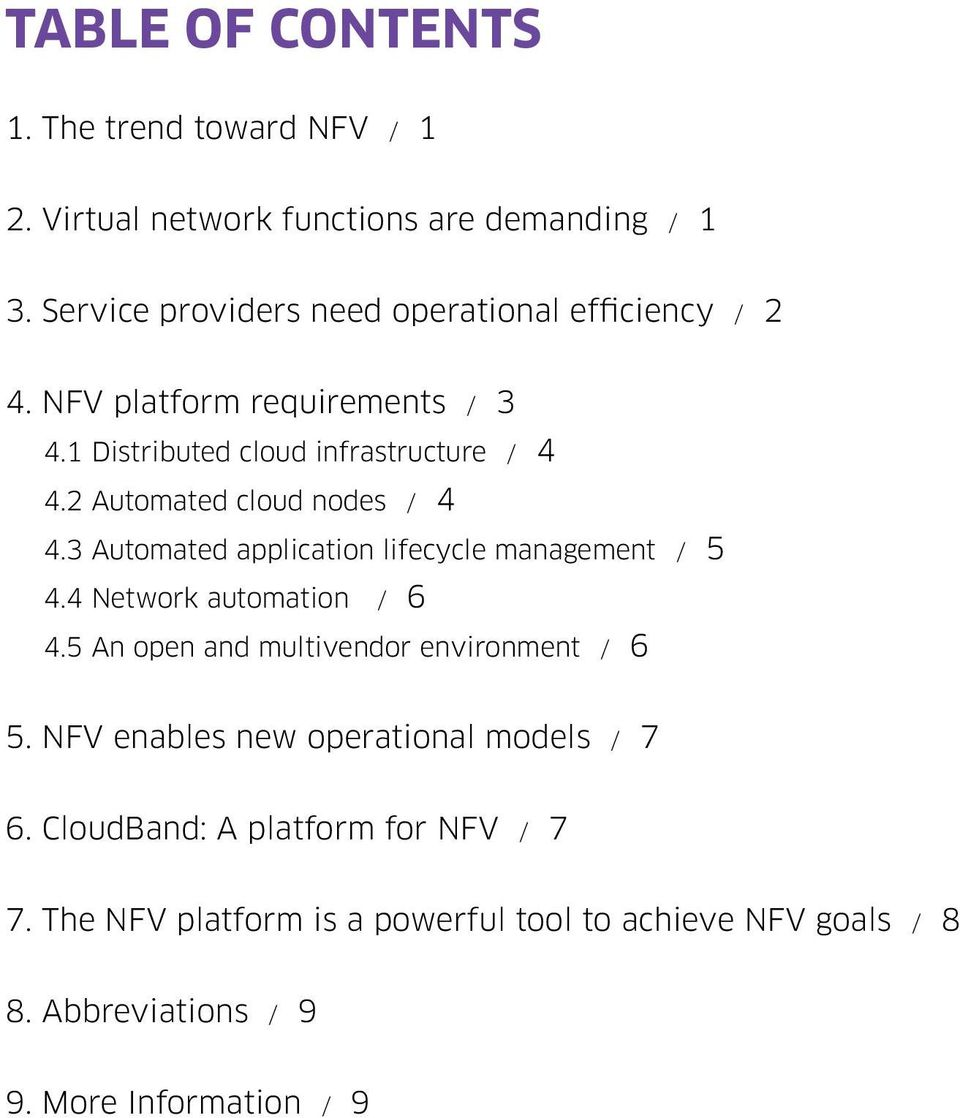 2 Automated cloud nodes / 4 4.3 Automated application lifecycle management / 5 4.4 Network automation / 6 4.