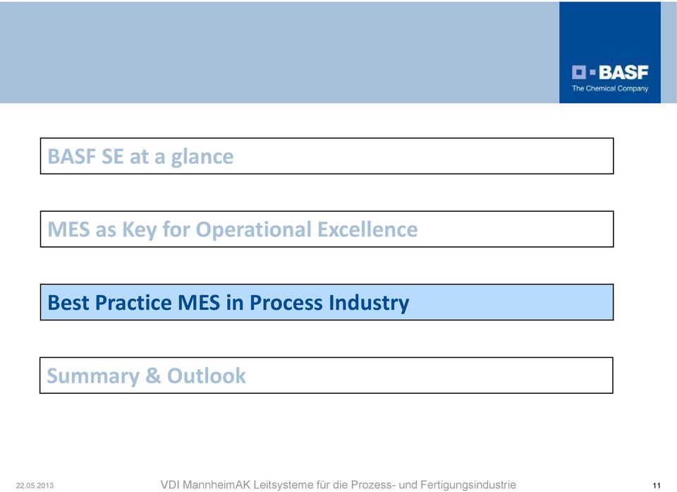 Excellence Best Practice MES