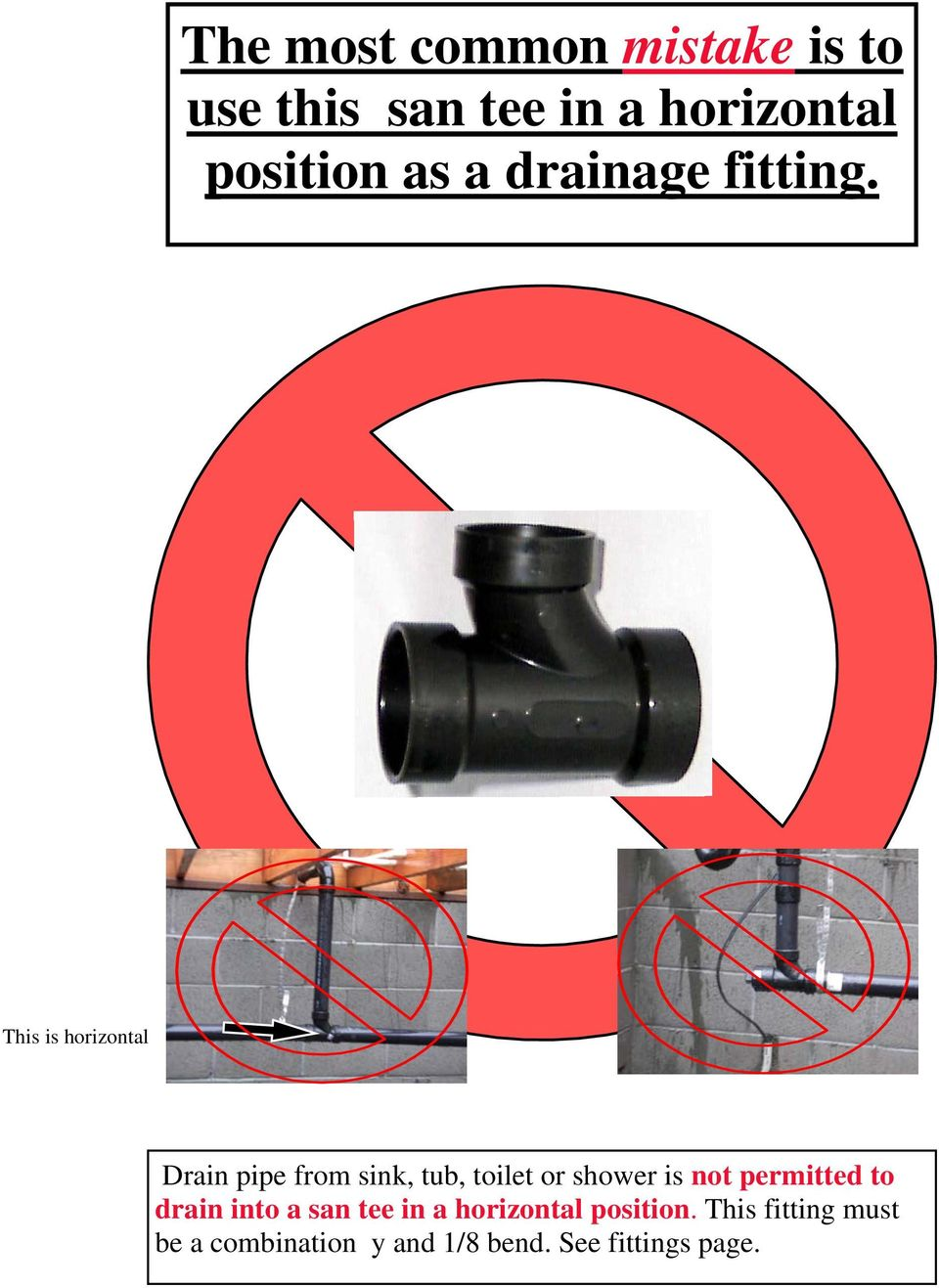 This is horizontal Drain pipe from sink, tub, toilet or shower is not