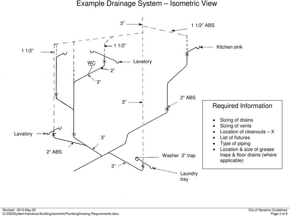 Isometric plumbing drawings pdf cleanouts x list of fixtures type of piping location size of grease traps floor malvernweather Images