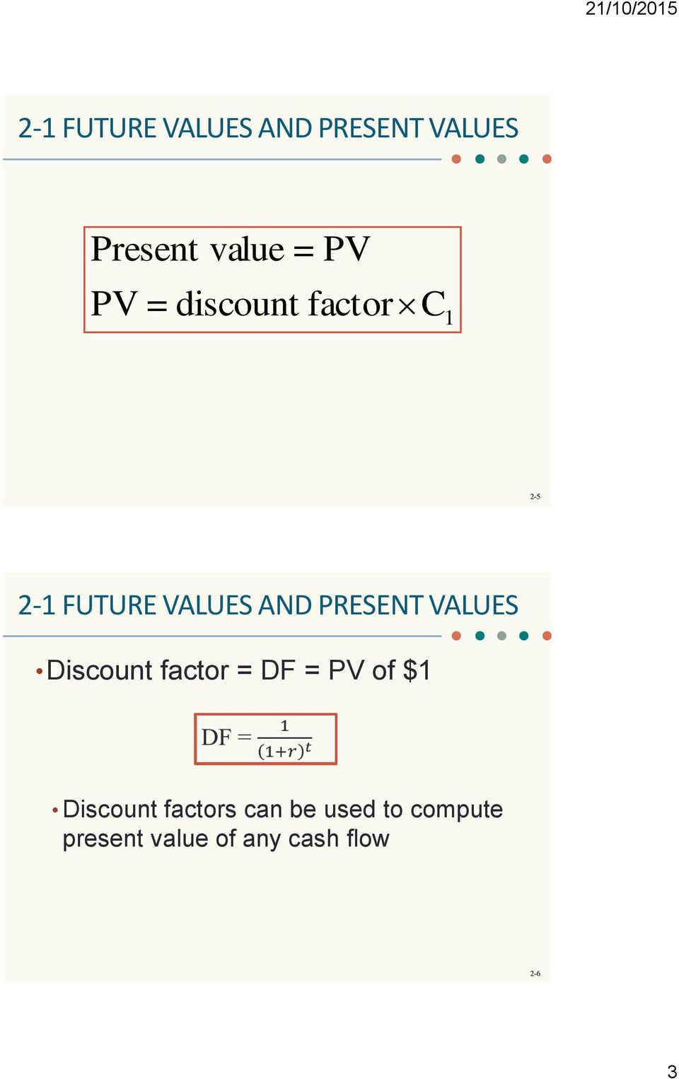 discounted cash flows excel calculate for present value