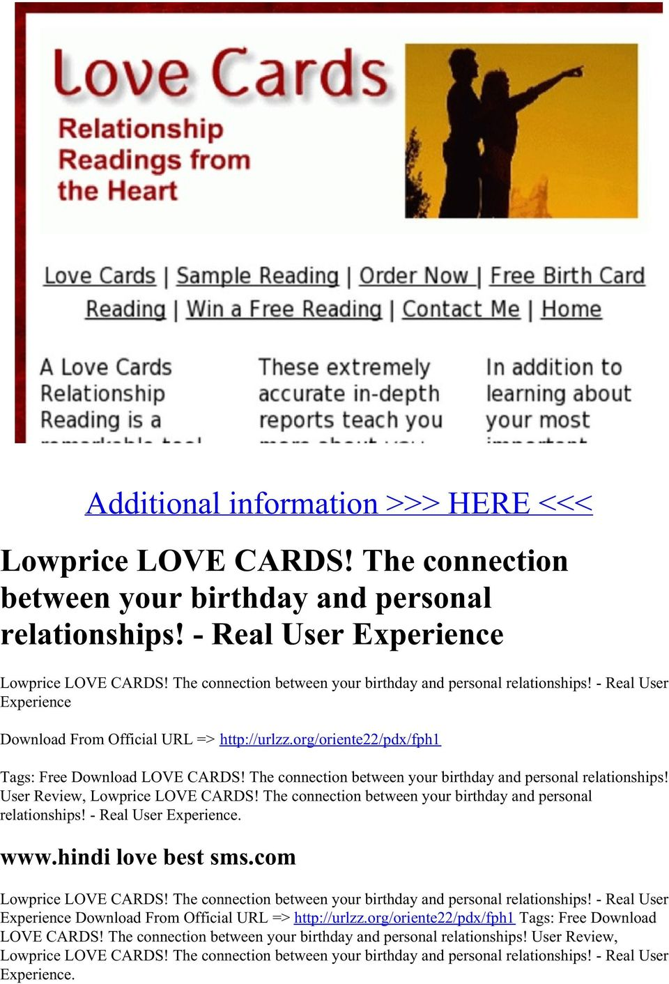 The connection between your birthday and personal relationships! User Review, Lowprice LOVE CARDS! The connection between your birthday and personal relationships!