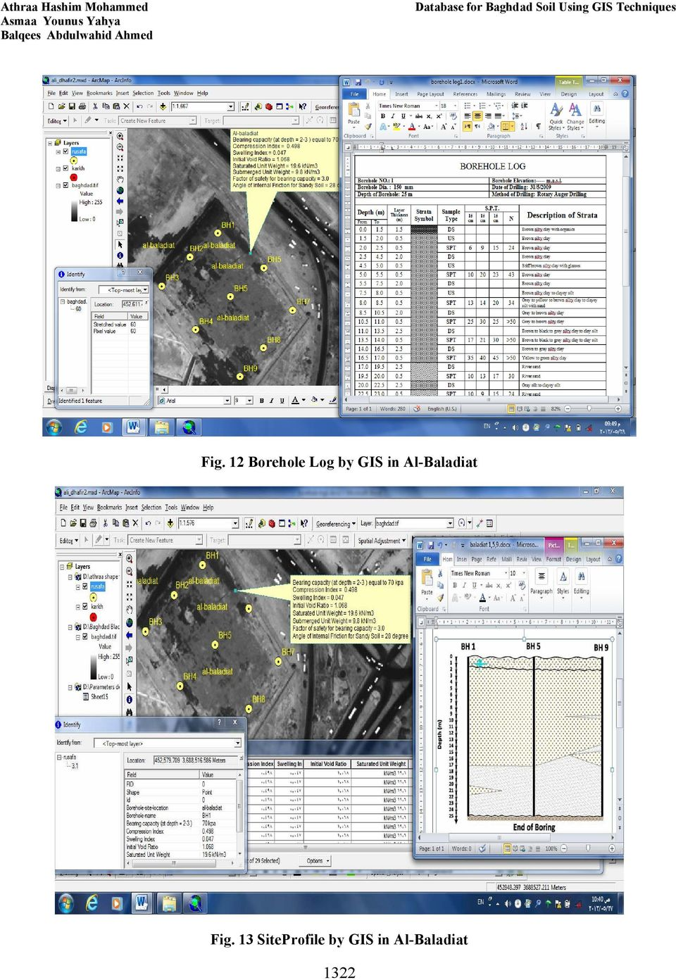 12 Borehole Log by GIS in Al-Baladiat