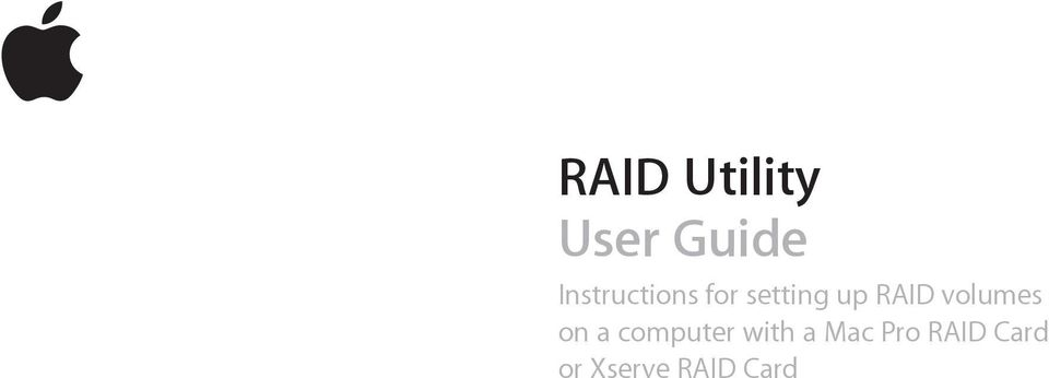 RAID volumes on a computer