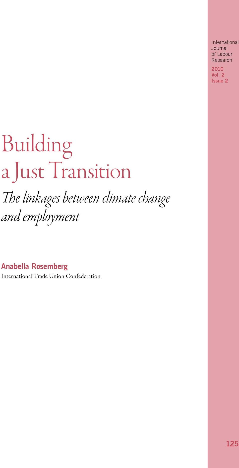 climate change and employment Anabella
