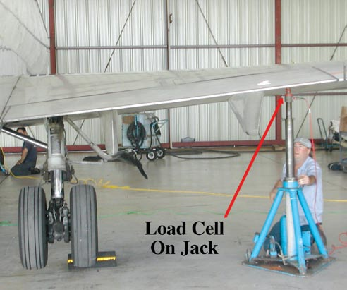 Figure 4-15 shows a regional jet on jacks with the load cells in place. Spirit Level Before an aircraft can be weighed and reliable readings obtained, it must be in a level flight attitude.