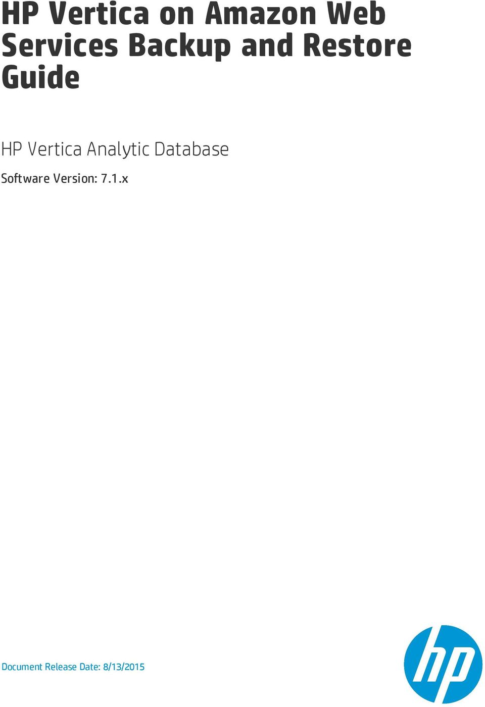 Analytic Database Software Version: