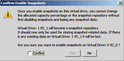 5. Choose whether to have a snapshot taken on reboot. To enable this option, check the box next to the Take snapshot on reboot field.