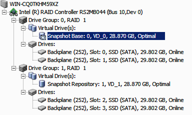 Figure 111. Snapshot Base is shown 9. Following steps create Snapshots and Views, based on above configurations for Snapshot Base and Snapshot Repository.