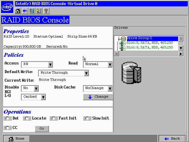Figure 31. Intel RAID BIOS Console 2 RAID 10 Properties Screen Figure 32.