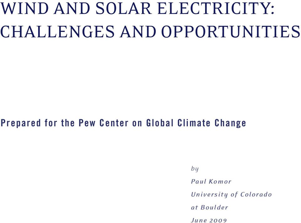 Center on Global Climate Change by Paul