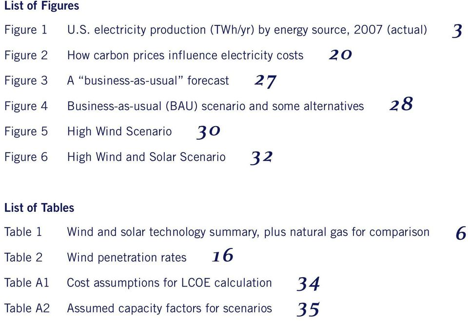 business-as-usual forecast 27 Figure 4 Business-as-usual (BAU) scenario and some alternatives 28 Figure 5 High Wind Scenario 30 Figure 6