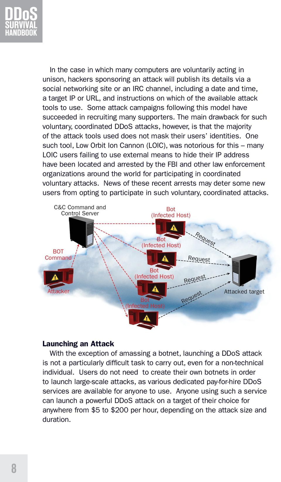 The main drawback for such voluntary, coordinated DDoS attacks, however, is that the majority of the attack tools used does not mask their users identities.