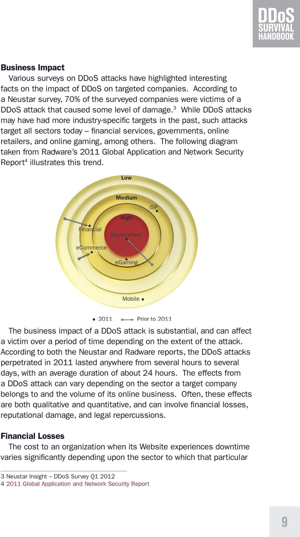 3 While DDoS attacks may have had more industry-specific targets in the past, such attacks target all sectors today financial services, governments, online retailers, and online gaming, among others.