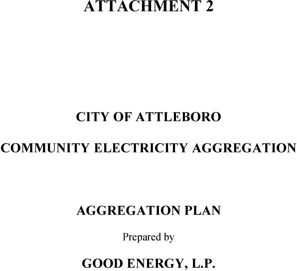 ELECTRICITY AGGREGATION